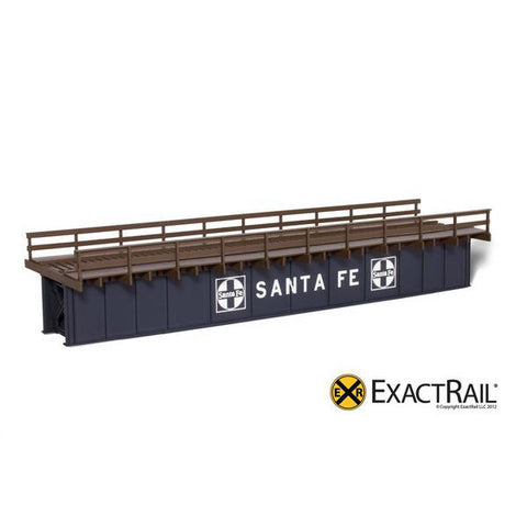 HO Scale: 72' Deck Plate Girder Bridge, Wood Handrails - ATSF