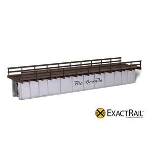 HO Scale: 72' Deck Plate Girder Bridge, Wood Handrails - DRGW