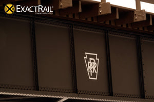 72' Deck Plate Girder Bridge: Wood Handrails : PRR - ExactRail Model Trains - 4