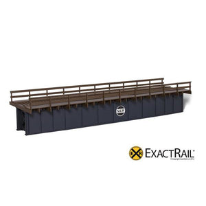 HO Scale: 72' Deck Plate Girder Bridge, Wood Handrails - N&W