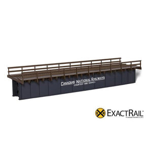 HO Scale: 72' Deck Plate Girder Bridge, Wood Handrails - CN