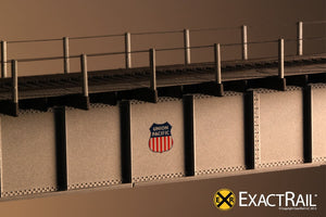 72' Deck Plate Girder Bridge, Cable Handrails : UP - ExactRail Model Trains - 4