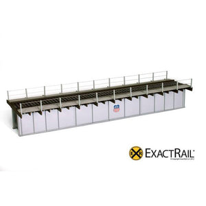 HO Scale: 72' Deck Plate Girder Bridge, Cable Handrails - UP