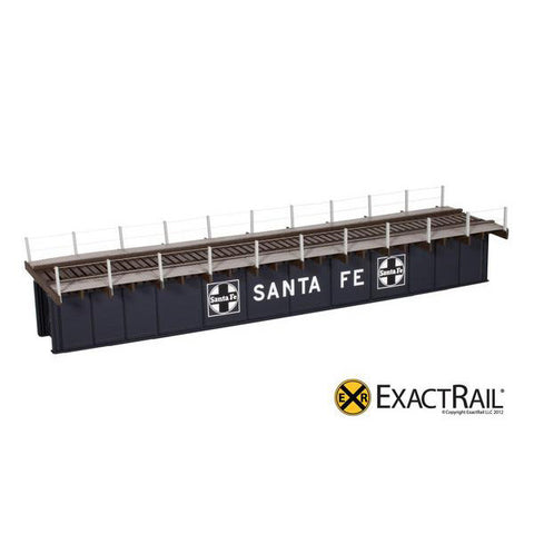 HO Scale: 72' Deck Plate Girder Bridge, Cable Handrails - ATSF