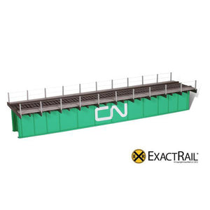 HO Scale: 72' Deck Plate Girder Bridge, Cable Handrails - CN