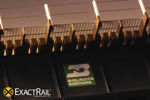 72' Deck Plate Girder Bridge, Cable Handrails : BN - ExactRail Model Trains - 4