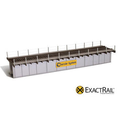 HO Scale: 72' Deck Plate Girder Bridge, Cable Handrails - Chessie