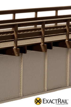 72' Deck Plate Girder Bridge, Wood Handrails : DRGW - ExactRail Model Trains - 4