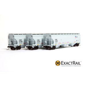 N Scale: Trinity 5161 Covered Hopper (3-Pack) - UP/CMO