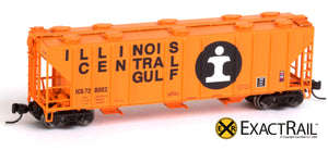 X - N - PS-2CD 4000 Covered Hopper : ICG - ExactRail Model Trains - 6