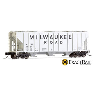 N Scale: PS-2CD 4000 Covered Hopper - MILW