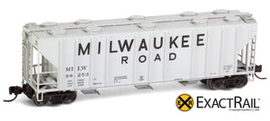 X - N - PS-2CD 4000 Covered Hopper : MILW - ExactRail Model Trains - 6