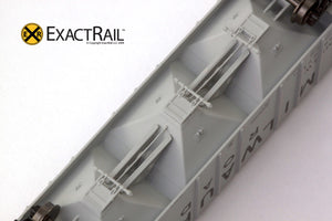 X - N - PS-2CD 4000 Covered Hopper : MILW - ExactRail Model Trains - 3