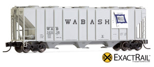N - PS-2CD 4000 Covered Hopper : Wabash - ExactRail Model Trains - 8