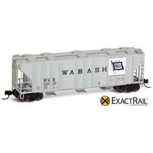 N Scale: PS-2CD 4000 Covered Hopper - Wabash
