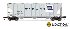 N - PS-2CD 4000 Covered Hopper : Wabash - ExactRail Model Trains - 4