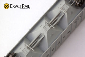 N - PS-2CD 4000 Covered Hopper : Wabash - ExactRail Model Trains - 7
