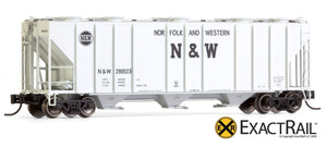 N - PS-2CD 4000 Covered Hopper : Norfolk & Western - ExactRail Model Trains - 8