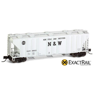 N Scale: PS-2CD 4000 Covered Hopper - Norfolk & Western