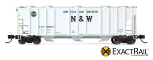 N - PS-2CD 4000 Covered Hopper : Norfolk & Western - ExactRail Model Trains - 2