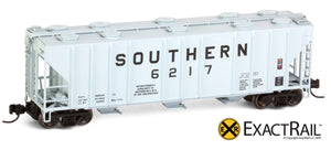 X - N - PS-2CD 4000 Covered Hopper : SOU - ExactRail Model Trains - 3