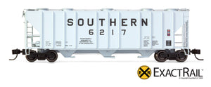 X - N - PS-2CD 4000 Covered Hopper : SOU - ExactRail Model Trains - 4