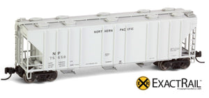 X - N - PS-2CD 4000 Covered Hopper : NP - ExactRail Model Trains - 6