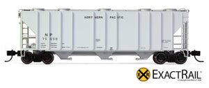 X - N - PS-2CD 4000 Covered Hopper : NP - ExactRail Model Trains - 8