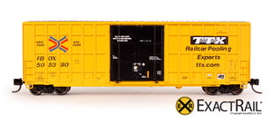 N - Trinity 6275 Plug Door Boxcar :  FBOX 2004 'As Delivered' - ExactRail Model Trains - 2