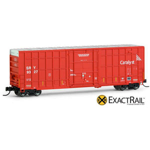 N Scale: Trinity 50' Hy-Cube Box Car - SRY (Red)