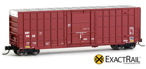 X - Trinity 50' Hy-Cube Box Car : SRY (Brown) - ExactRail Model Trains