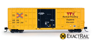 N - Trinity 6275 Plug Door Boxcar - FBOX #504634 'Forward Thinking' Repaint - ExactRail Model Trains - 2
