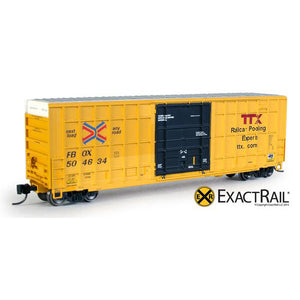 N Scale: Trinity 6275 Plug Door Boxcar - FBOX #504634 'Forward Thinking' Repaint