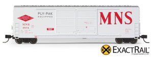 X - N - Gunderson 5200 Box Car : MNS - ExactRail Model Trains - 2