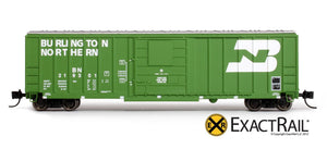 N - Evans-USRE 5277 Boxcar (Early) : BN - ExactRail Model Trains - 2