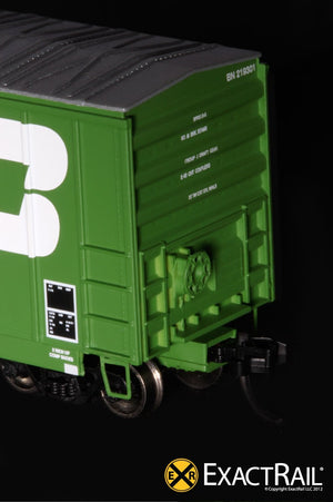 N - Evans-USRE 5277 Boxcar (Early) : BN - ExactRail Model Trains - 5
