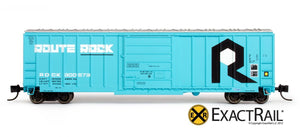 N - Evans-USRE 5277 Boxcar (Early) : RI - ExactRail Model Trains - 2