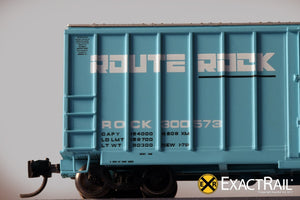 N - Evans-USRE 5277 Boxcar (Early) : RI - ExactRail Model Trains - 6