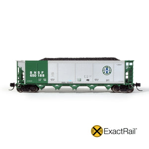 N Scale: Johnstown America AutoFlood II Hopper - BNSF - Green