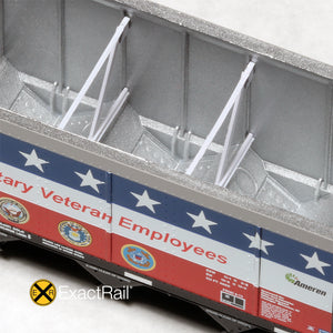N Scale: Johnstown America AutoFlood II Hopper - UCEX 'Military Veteran'