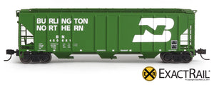X - N - PS-2CD 4427 Covered Hopper : BN - ExactRail Model Trains - 4