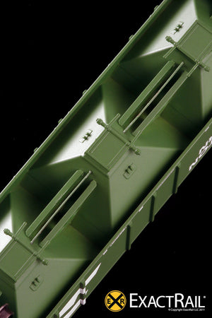 X - N - PS-2CD 4427 Covered Hopper : BN - ExactRail Model Trains - 6
