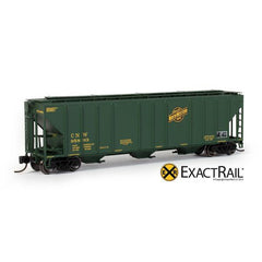 N Scale: PS-2CD 4427 Covered Hopper : CNW