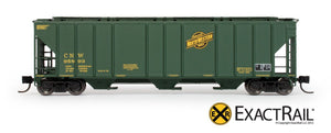 N - PS-2CD 4427 Covered Hopper : CNW - ExactRail Model Trains - 2