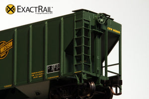 N - PS-2CD 4427 Covered Hopper : CNW - ExactRail Model Trains - 5