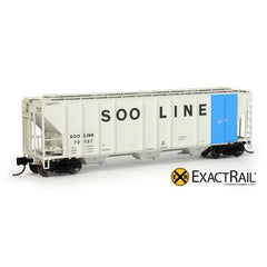 N Scale: PS-2CD 4427 Covered Hopper - SOO