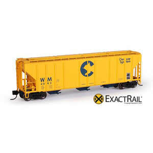 N Scale: PS-2CD 4427 Covered Hopper - Chessie System