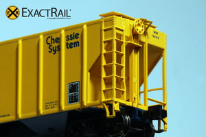 N - PS-2CD 4427 Covered Hopper : Chessie System - ExactRail Model Trains - 5