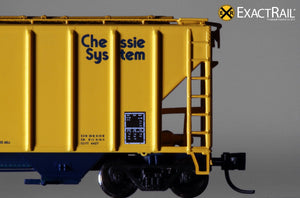 N - PS-2CD 4427 Covered Hopper : Chessie System - ExactRail Model Trains - 6