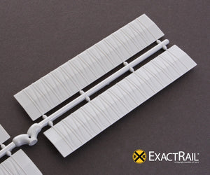 Details N - Roof, diagonal overhanging: N Scale - ExactRail Model Trains - 2